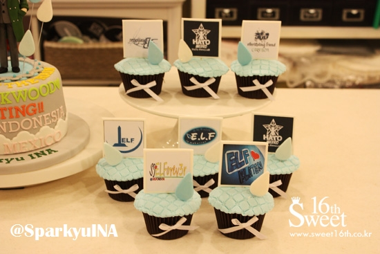 cupcake with our fanbase partners's logo