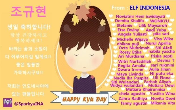card di flower basket yang bertuliskan nama-nama ELF yang berdonasi untuk flower basket ^^