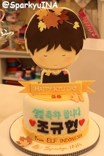 Cake for KyuKyu. Cute, isn't it? ^^