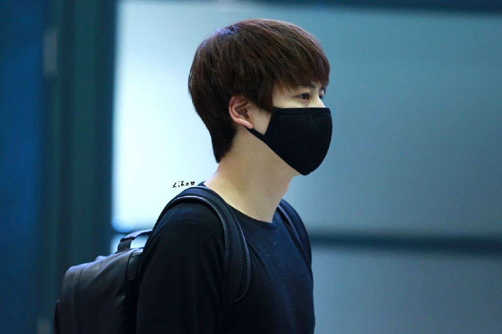 150413 Kyuhyun at Incheon Airport Back From Philipphines ...