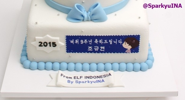 Front side (2015) Happy 9th Debut Anniversary Cho Kyuhyun ^^ From ELF INDONESIA, of course! ^^