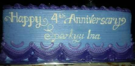 Cake SparkyuINA's 4th Anniversary