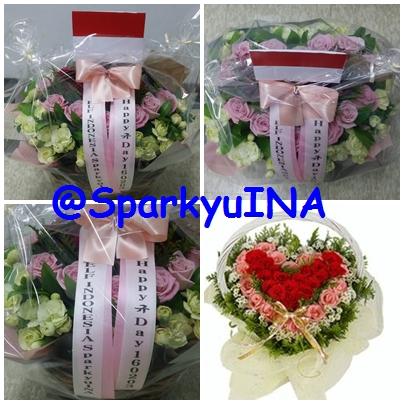 """Flower Basket berbentuk """"Love"""""""