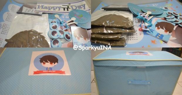 Merchandise untuk Kyuhyun, keluarga, dan crew MOM House (Gift yang sama dengan yang diberikan untuk ELF yang berdonasi ^^)