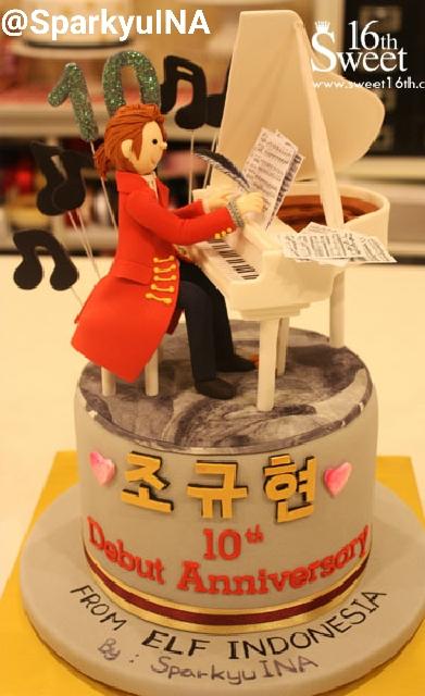 Cake untuk Kyuhyun ^^ Desainnya dari Musical terbaru Kyuhyun : Mozart