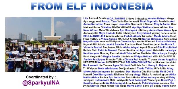 zoom bagian bawah x-banner berisi nama-nama ELF yang ikut project ini